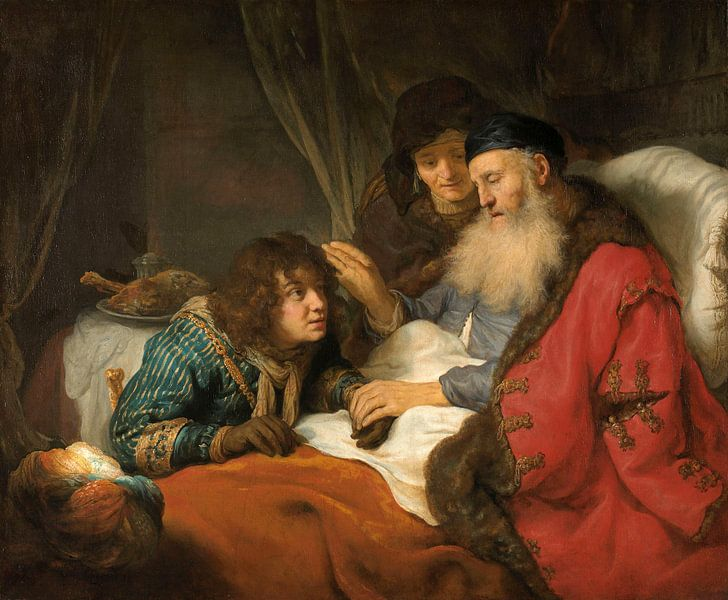 Isaac Blessing Jacob, Govert Flinck von Meesterlijcke Meesters