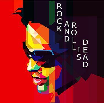 Lenny Kravitz Pop Art WPAP von Fariza Abdurrazaq