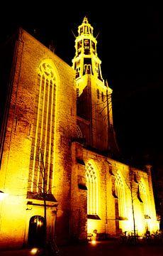Der Aa-Kerk in de nacht van Groningen Stad