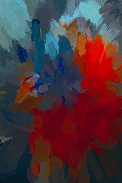 Abstract boeket van Leo Luijten