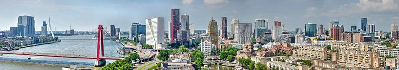 Rotterdams skyline-panorama van Frans Blok