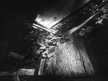 The Shining - Jack et sa hache font une pause dans le bûcher. sur Jakob Baranowski - Off World Jack