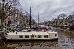 De Waalseilandgracht in Amsterdam. van