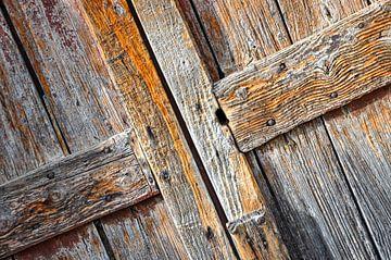 Ancienne écurie rustique ou porte de grange sur Wil Wijnen
