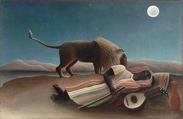 Henri Rousseau. La Bohémienne endormie