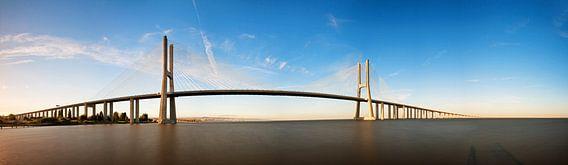 Vasco da Gamabrug panorama van Dennis van de Water