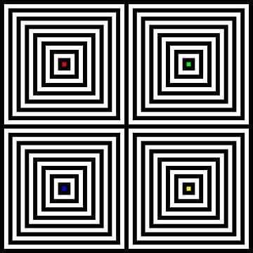 Genesteld | Center | 02x02 | N=8 | RGBY van Gerhard Haberern