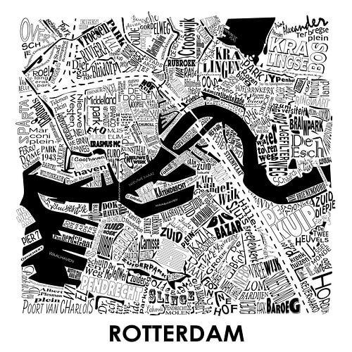 Carte de Rotteram en mots