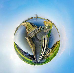 Tiny planet Molen Het Noorden - Texel