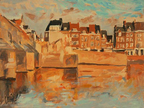 Indian Summer licht Wyck, Maastricht van Nop Briex