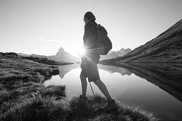 Bergwandelen Zwitserse Alpen Matterhorn van Menno Boermans