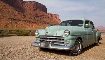 Vintage Chrysler grün von Jolanda van Eek