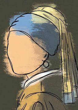 Mädchen mit der Perle modern von Romee Heuitink