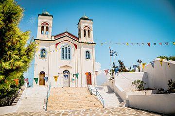 Église grecque sur l'île de Paros, Cyclades sur Daphne Groeneveld