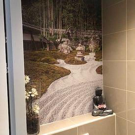 Kundenfoto: Japanischer Zen-Garten mit Kieselsteinen und Bambus von Mickéle Godderis, auf nahtloser fototapete