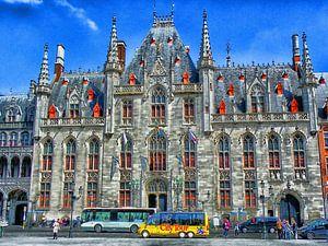 Historische stadhuis van Brugge , Belgie.