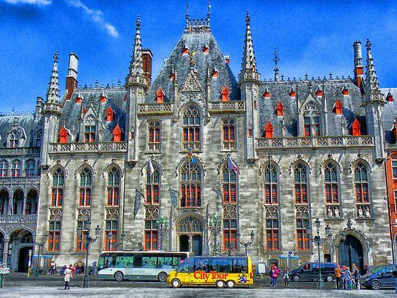 Historische stadhuis van Brugge , Belgie. van Jessica Berendsen
