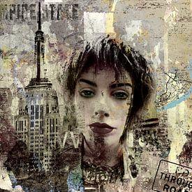 The girl in Manhatten New York City van PictureWork - Digital artist