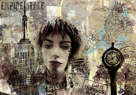 The girl in Manhatten New York City