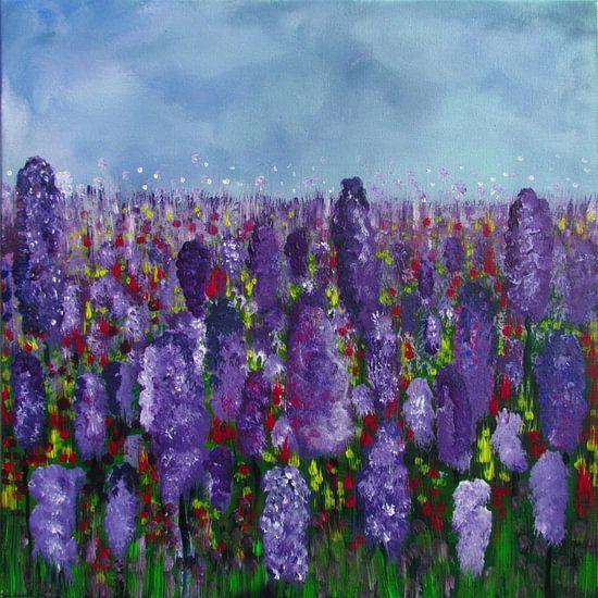 Malerei Lavendelfeld