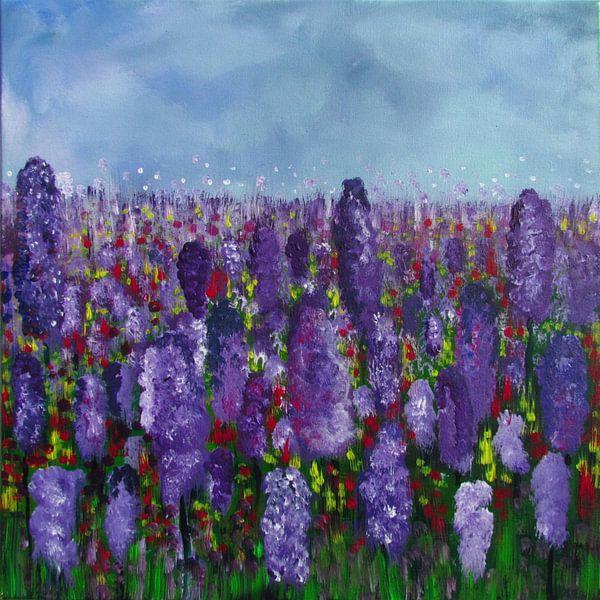 Malerei Lavendelfeld von Patricia Piotrak