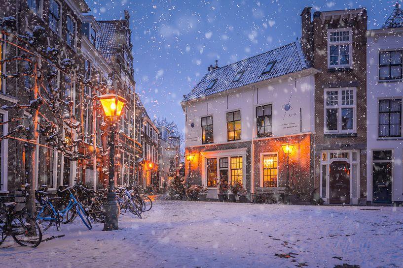 Leiden in de Winter van Martijn van der Nat