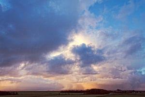 Wolken über dem Wattenmeer von Marian Merkelbach