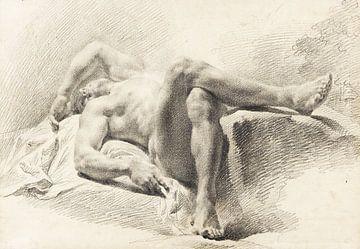 Männlicher liegender Akt (Akademiestudie),  Um 1800 von Atelier Liesjes