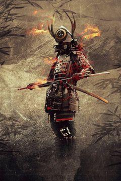 Un vieux samouraï japonais sur