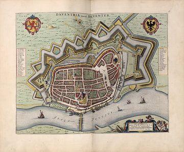 Deventer, Stadsplattegrond Joan Blaeu 1652 van Atelier Liesjes
