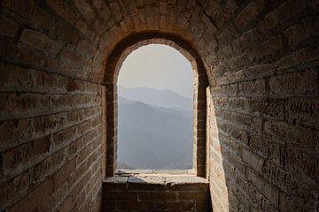 Große Mauer von China: Blick von einem Turm aus von Jolene van den Berg