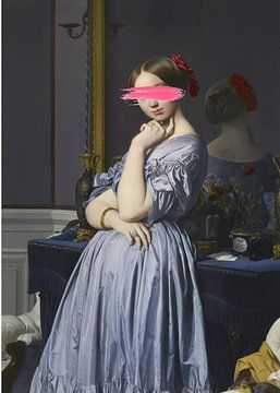 Woman in Blue Dress van David Potter