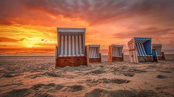 Strandstoelen op Sylt