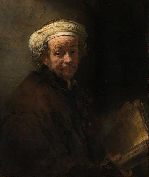 Selbstporträt als Apostel Paulus – Rembrandt van Rijn von 1000 Schilderijen