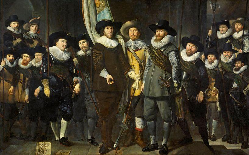 Offiziere und andere Bürgergardisten des III. Bezirks von Amsterdam, Thomas de Keyser von Meesterlijcke Meesters