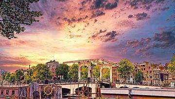Skinny Brücke,  Amsterdam von Digital Art Nederland