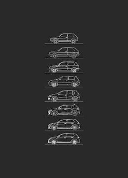 Volkswagen Golf GTI Evolutie van Artlines Design
