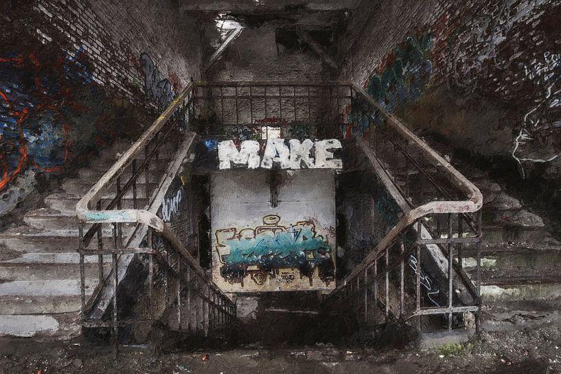 Eine verlassene Festung in Belgien von Digitale Schilderijen