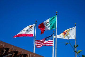 Vier vlaggen van Florian Kampes