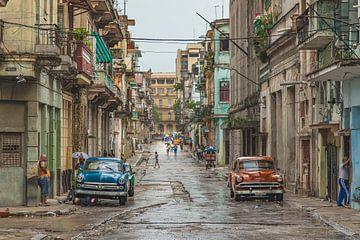 Rainy day in Havana, Cuba van Andreas Jansen