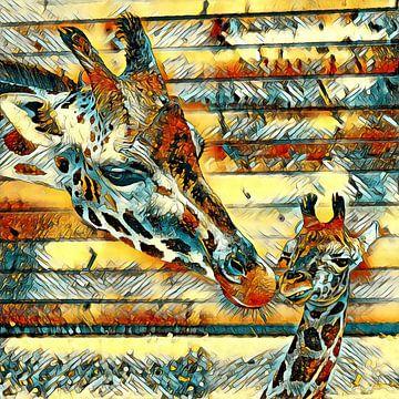AnimalArt_Giraffe_001_by_JAMFoto van Angelika Möthrath