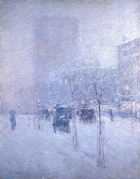 Childe Hassam, Später Nachmittag, New York, Winter, 1900. von Atelier Liesjes