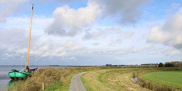 Skûtsje bij het Sneekermeer van Pim van der Horst
