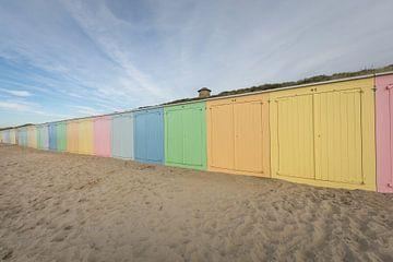 De strandhuisjes van Domburg van Max ter Burg