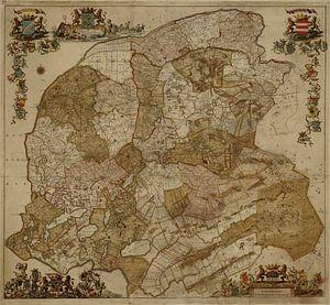 Kaart van Friesland