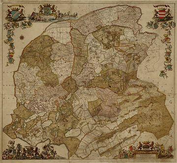 Kaart van Friesland sur