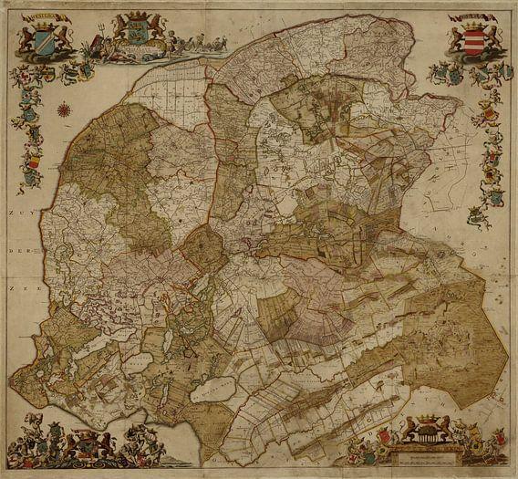 Kaart van Friesland van Rebel Ontwerp