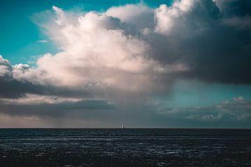 Boot op de waddenzee van Isa V