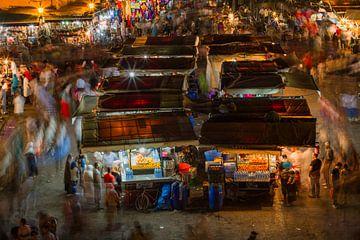 Djemaa el Fna plein in Marrakesh van Koen Henderickx
