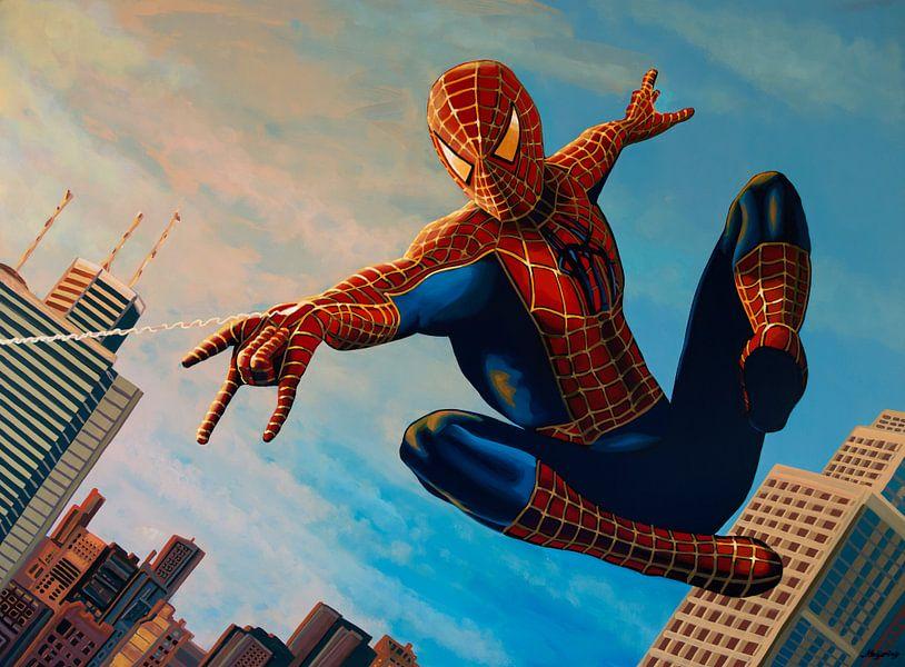 Spiderman Schilderij 3 van Paul Meijering